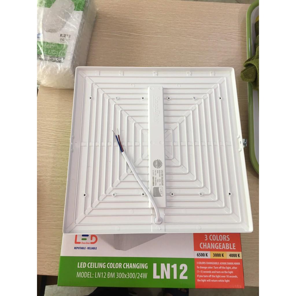 Đèn LED Ốp Trần Đổi Màu Rạng Đông Tròn D LN12L ĐM 300x300.24 w-Vuông