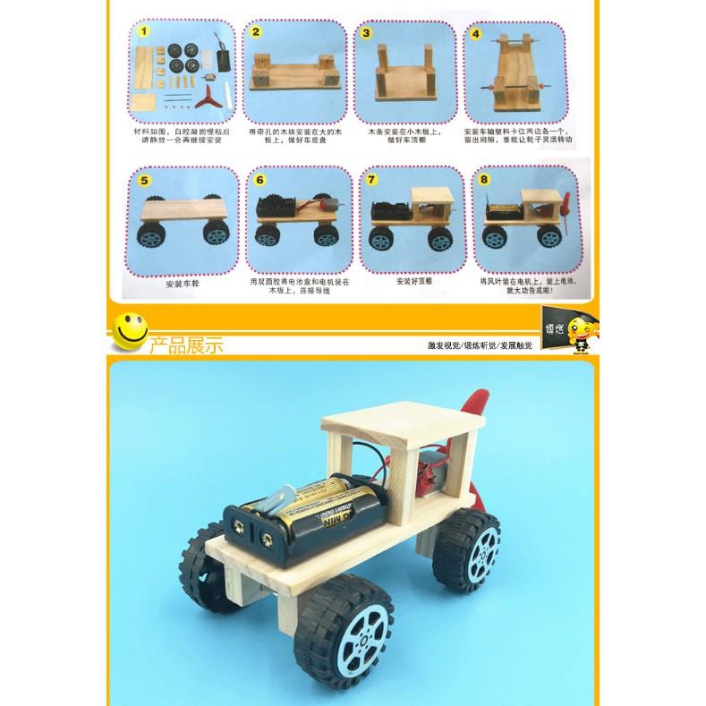 Đồ chơi thông minh, sáng tạo Đồ chơi khoa học STEAM - chế tạo ôtô cho bé