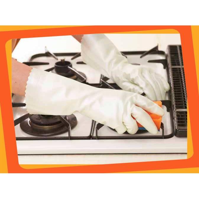 (Giá Cực Hot)Găng tay rửa bát kháng khuẩn chống mồ hôi SHOWA size M dai và bền