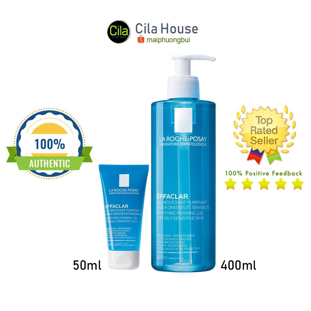 Sữa rửa mặt La Roche-Posay Effaclar 50ml-400ml cho da dầu, mụn, nhạy cảm - Cila House