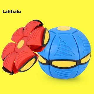 Lahtialu Funny Magic Kids Transform UFO Phlat Ball Squeeze Toy Outdoor Sports Child Gift