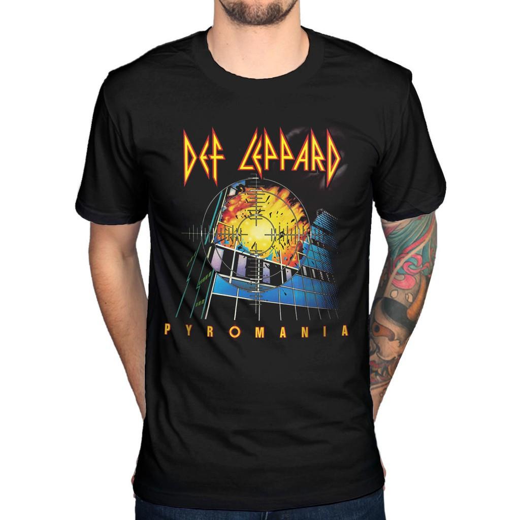 Def Leppard Pyromania T-Shirt High n Dry Joe Elliott Slang men tshirt