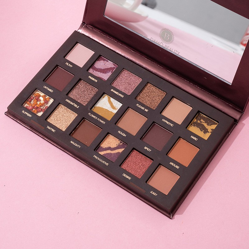 Hot Reverse Rose 18 Color Eye Shadow Matte Pearlescent Streaky Pork Pomegranate Seed Eye Shadow Palette
