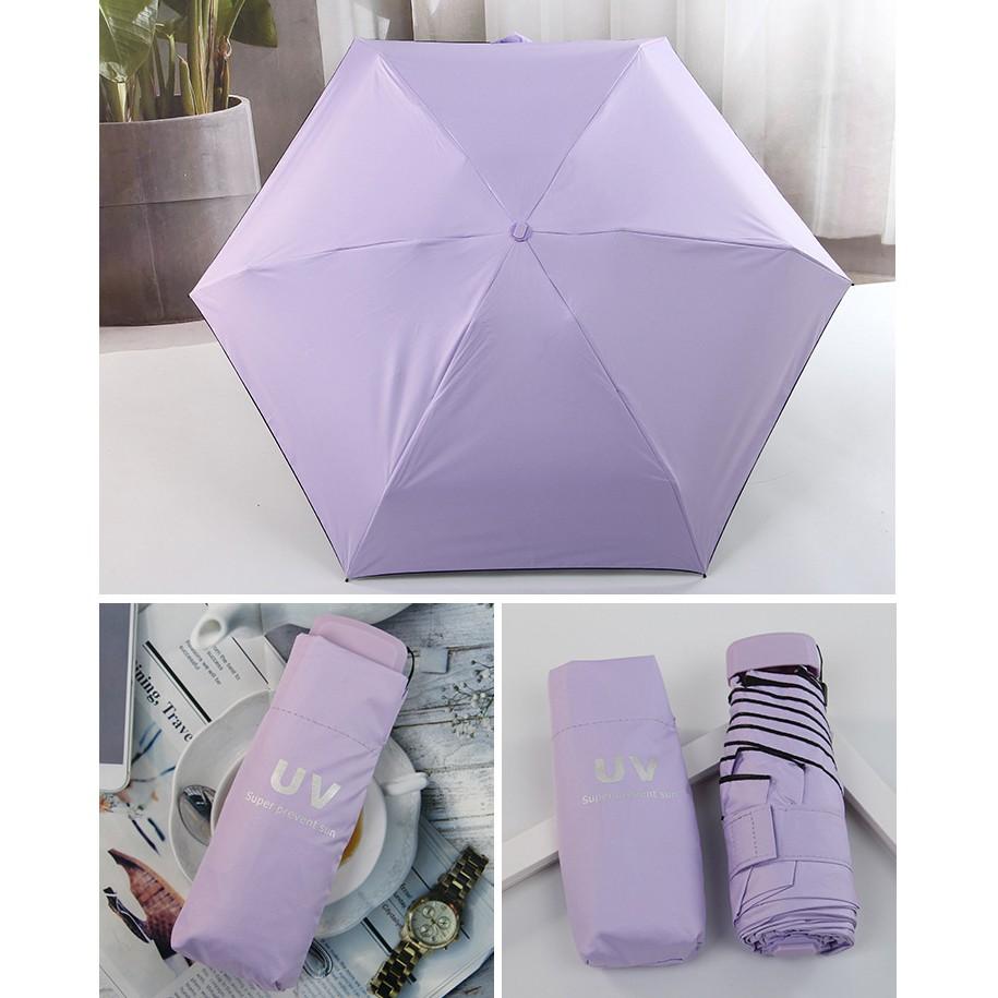Ô dù cầm tay mini thời trang chống tia UV cao cấp