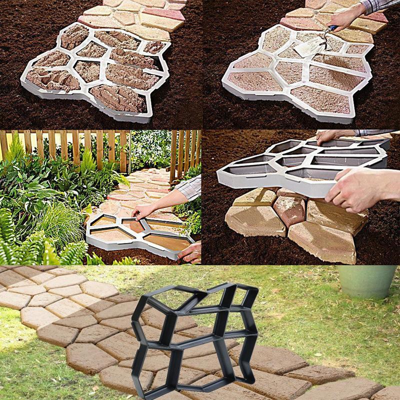 Khuôn nhựa đúc bê tông giả đá lát lối đi sân vườn