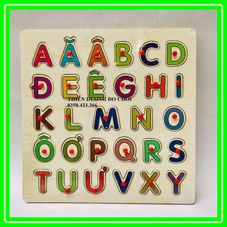 Bảng chữ cái tiếng việt có núm 30*30cm