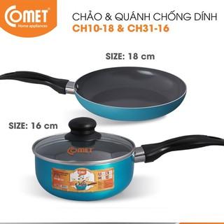 Combo chảo và quánh chống dính Ceramic COMET - CH10-18 & CH31-16 thumbnail