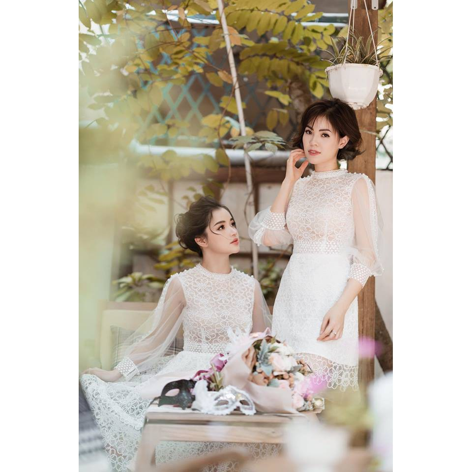 (Bán sỉ) Váy ăn cưới thần thánh Mulan Dress đính hạt thủ công Đầm Váy dự tiệc đám cưới ZSP
