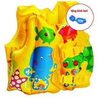 Áo phao tập bơi Intex cho bé 3-6 tuổi ( kèm kính bơi)
