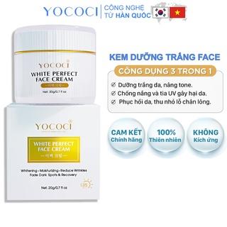 Kem dưỡng trắng da mặt Yococi giúp sáng da, ngăn chặn ánh sáng xanh White Perfect Face Cream 20g thumbnail