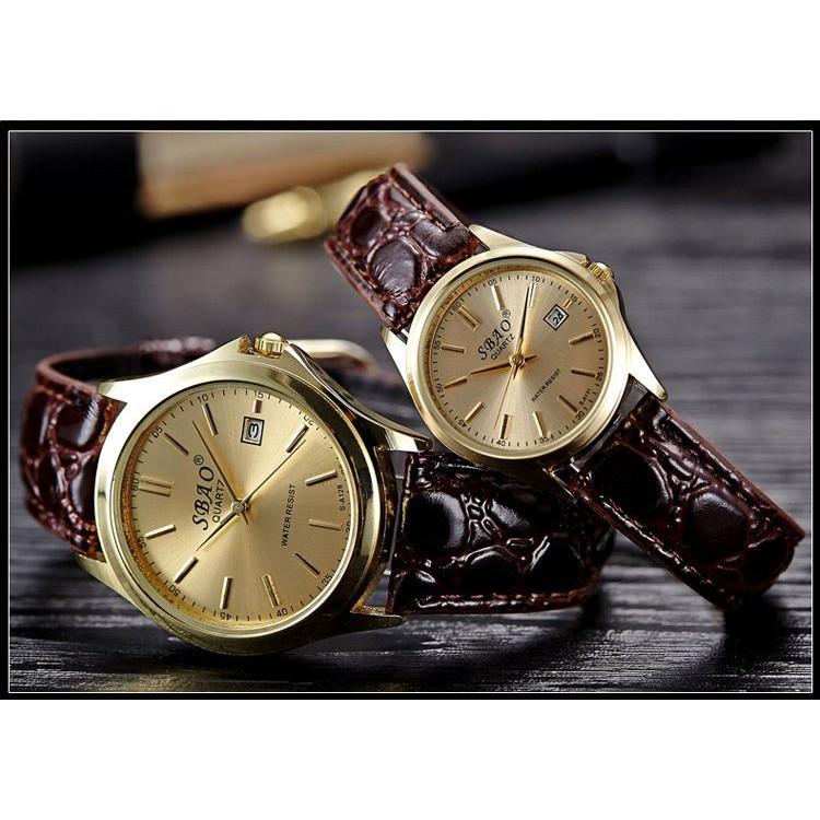 Đồng hồ thời trang Nữ mặt tròn SBAO (dây nâu đậm mặt vàng ) - 3577387 , 1159781439 , 322_1159781439 , 99000 , Dong-ho-thoi-trang-Nu-mat-tron-SBAO-day-nau-dam-mat-vang--322_1159781439 , shopee.vn , Đồng hồ thời trang Nữ mặt tròn SBAO (dây nâu đậm mặt vàng )