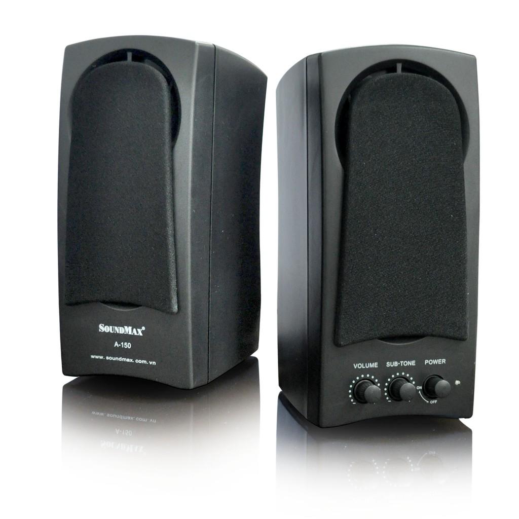 Loa vi tính 2.0 SoundMax A150 âm thanh mạnh mẻ Triệu Gia phân phối