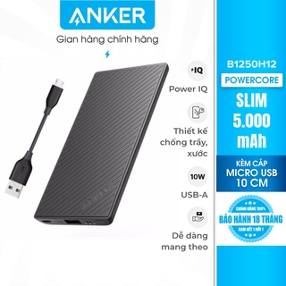 Pin sạc dự phòng ANKER PowerCore Slim 5000 kèm cáp MicroUSB dài 10cm - B1250H12 thumbnail