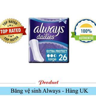 Always Dailies Extra – Băng vệ sinh hàng Anh uy tín