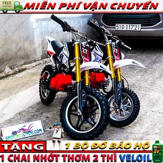 Xe cao cao 50cc trẻ em ( Bánh Lớn )   Moto mini ruồi tam mao   cào cào 2 thì gắn máy cắt cỏ chạy xăng pha nhớt
