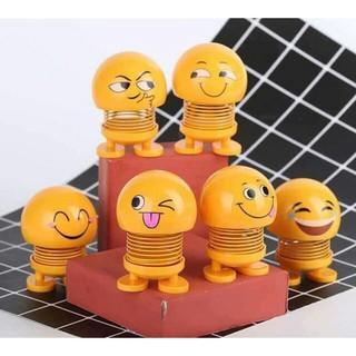 Bộ 6 thú nhún Emoji lò xo hình biểu tượng cảm xúc