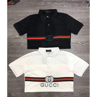 (ảnh thật+video) áo thun nam áo polo chuẩn đẹp GUCI thêu chuẩn đẹp hàng shop