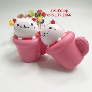 Squishy Cat in cup (Squishy Cốc mèo) |shopee. VnShopgiayred