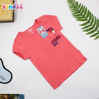 Áo T-shirt bé gái KANDOO, in hình đáng yêu thoải mái hoạt động, 100% cotton cao cấp mềm mịn, thoáng mát - DGTS1736