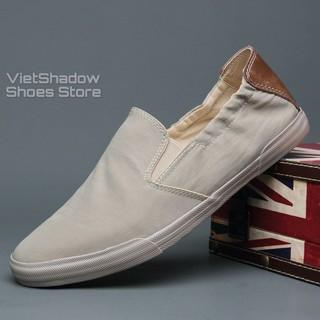 Slip on nam 2020 - Giày lười vải nam cao cấp BAODA - Vải polyester 3 màu đen, khaki, xanh nhạt - Mã 20043 thumbnail