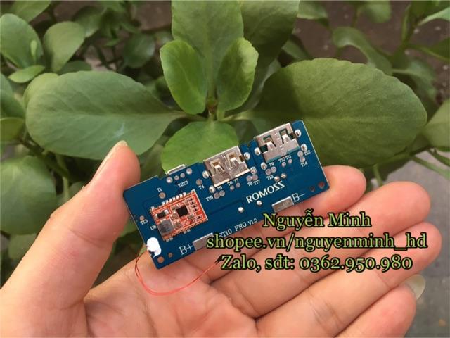 [Mã ELORDER5 giảm 10k đơn 20k] mạch sạc dự phòng ROMOSS RT10 PRO hỗ trợ sạc nhanh QC3.0 18w