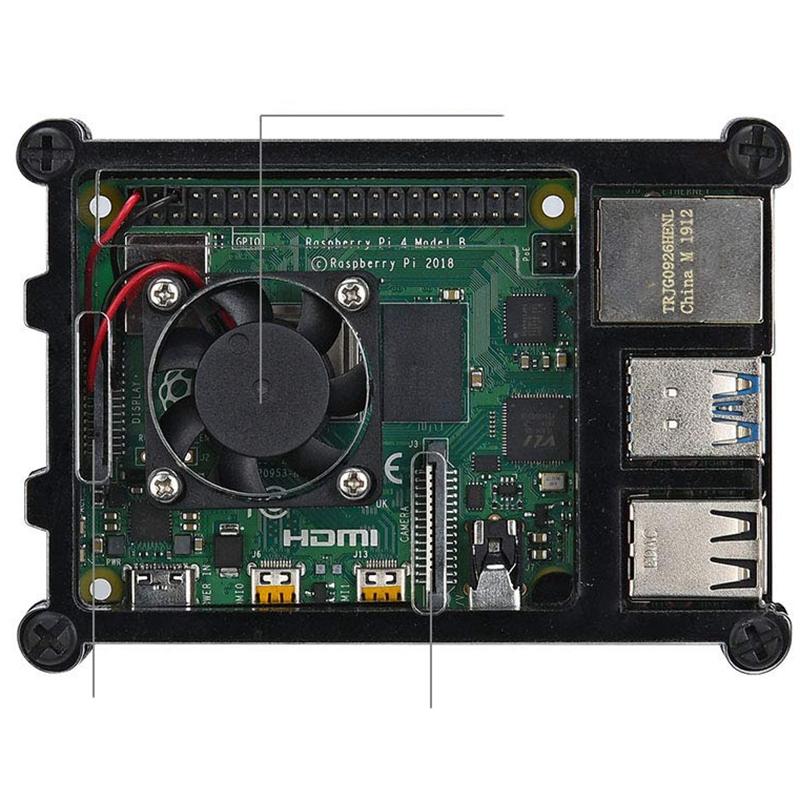 Vỏ Acrylic Trong Suốt Cho Raspberry Pi 4 Model B