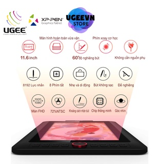 Bảng Vẽ Màn Hình Ugee EXRAI 12 Pro (XP-Pen Artist 12 Pro) FullHD Lực Nhấn 8192 72%NTSC (Kèm quà tặng) thumbnail