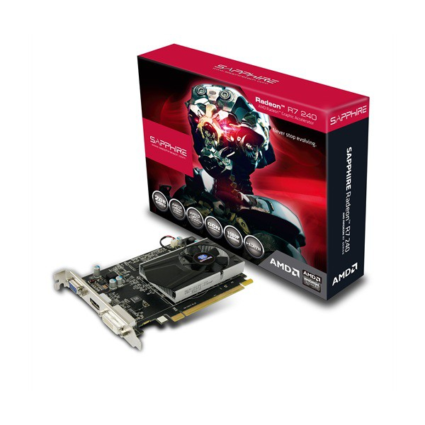 CARD MÀN HÌNH VGA SAPPHIRE R7 240 2GB DDR3 WITH BOOST