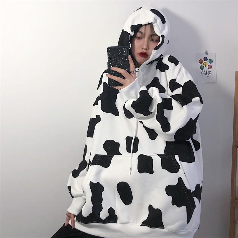 Áo Hoodie Bò Sữa - Áo Nỉ Bò Sữa Chất Nỉ Ngoại - Áo Bò Sữa Có Mũ