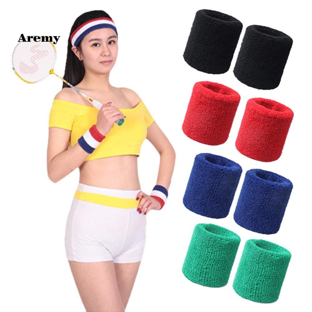 AEMY♥2Pcs Wristbands Absorb Sweat Towel Wrist Protector for Badminton Tennis Sport - 14271134 , 2689376383 , 322_2689376383 , 33000 , AEMY2Pcs-Wristbands-Absorb-Sweat-Towel-Wrist-Protector-for-Badminton-Tennis-Sport-322_2689376383 , shopee.vn , AEMY♥2Pcs Wristbands Absorb Sweat Towel Wrist Protector for Badminton Tennis Sport