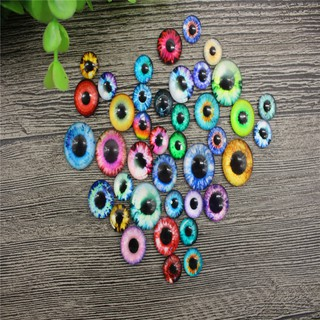 New 50Pcs Funny Multicolor Joggle Moveable Eyes DIY 10mm Plastic Googly