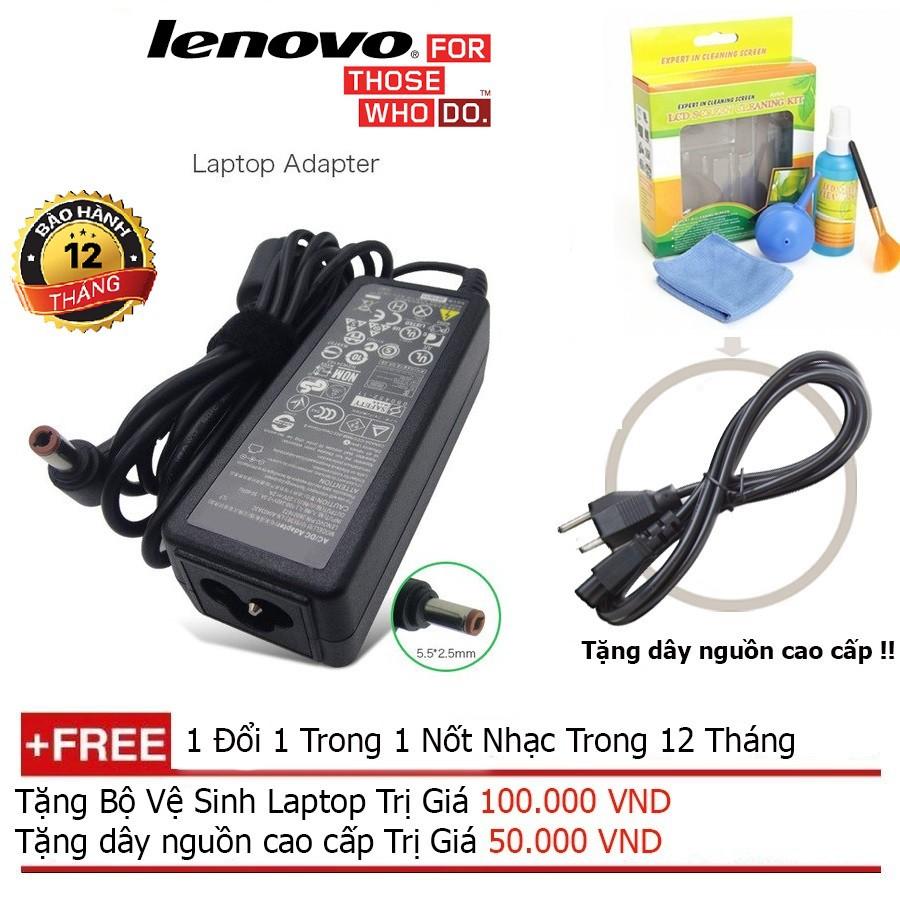 SẠC LAPTOP Lenovo 20V-3.25A Original dài + Tặng dây nguồn dài 1.8m, bộ vệ sinh laptop Giá chỉ 280.000₫