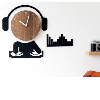 [Design by Moro Hàn Quốc] Đồng hồ treo tường, đồng hồ trang trí, decor trang trí nhà cửa hình DJ – Music wall clock