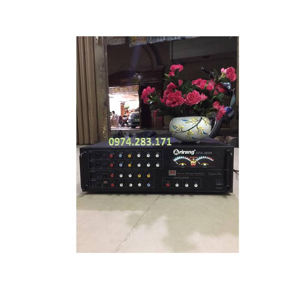 + ( GIÁ TỐT NHẤT ) Amply Arirang-303 công suất lớn 8 sò chỉnh nhạc, hát karaoke - !!