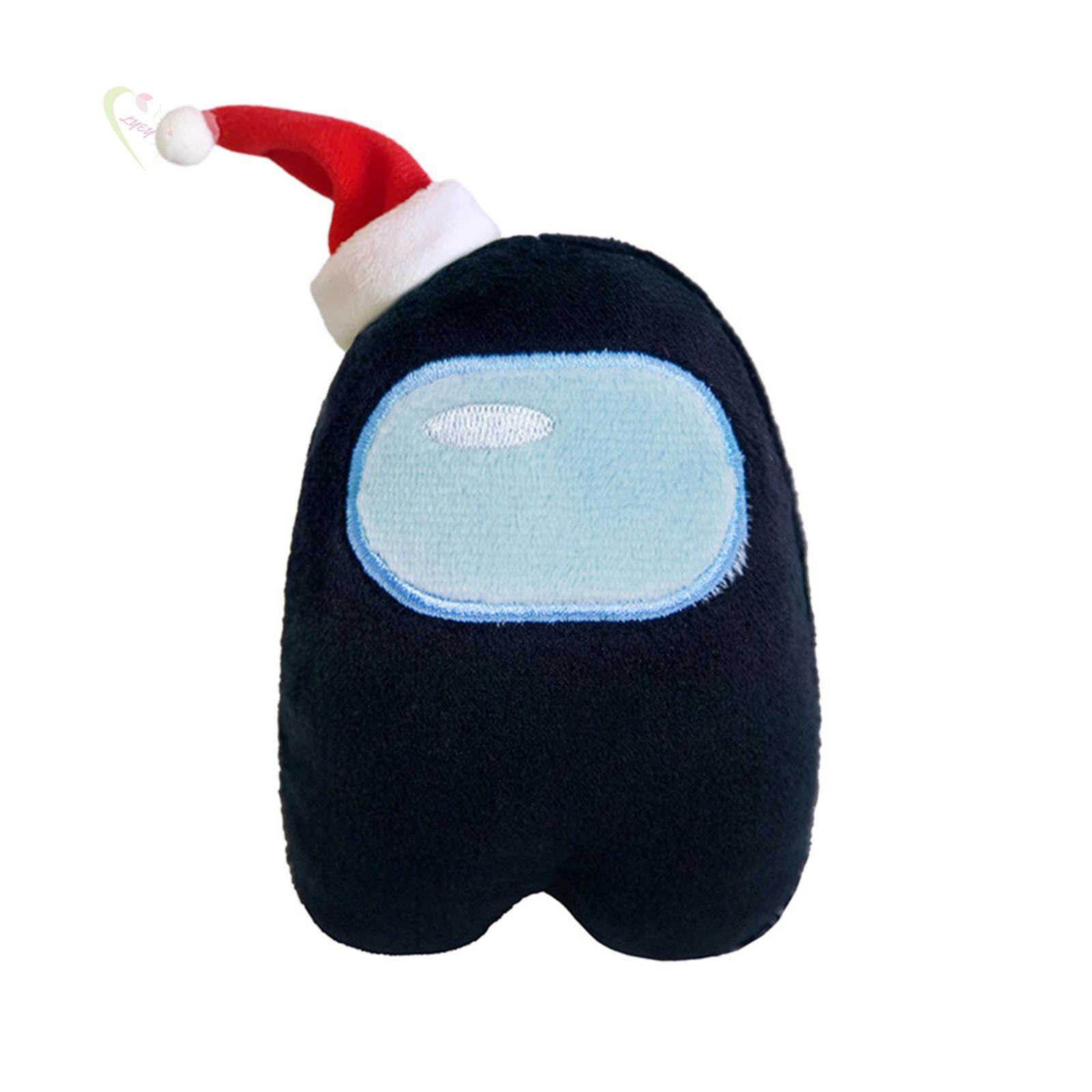 LE Xmas Hat Figure Among Us Plush Crewmate Plushie Kawaii Stuffed Soft Game Plush Toy Lovely Stuffed Doll Christmas Gift...