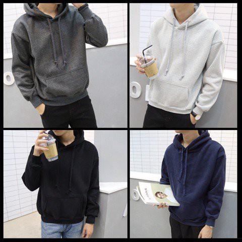 Áo hoodie trơn form rộng - Áo nam nữ