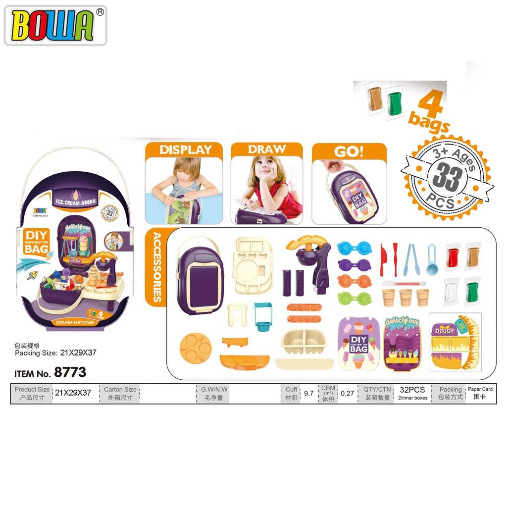 Bộ đồ chơi nhập vai BOWA 8773- Bộ làm kem 33 chi tiết