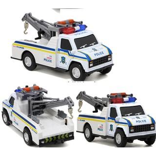 Xe cứu hộ đồ chơi trẻ em – Tow truck – Xe có đèn và nhạc khi nhấn đầu xe xuống