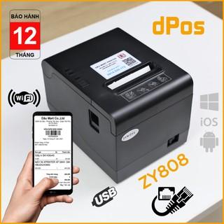 Máy in hóa đơn K80 dPos ZY808 hỗ trợ LAN in không dây từ điện thoại & máy tính qua Wifi dùng giấy 80mm cắt giấy tự động thumbnail