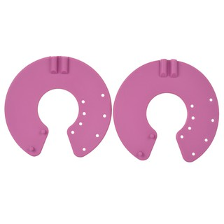 Acupuncture Slimming Digital Therapy Massager Breast Electrode Pads – Deep Pink + Black (2 PCS)