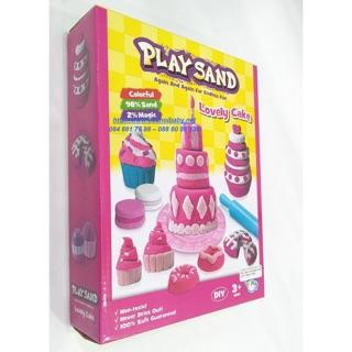 Cát nặn, cát động lực hình bánh sinh nhật