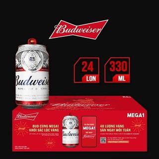 Bia Budweiser 24 lon 330ml