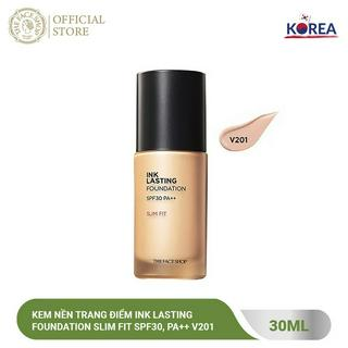 Kem Nền Đa Năng TheFaceShop Ink Lasting Foundation Slim Fit SPF30, Pa++ 30ml