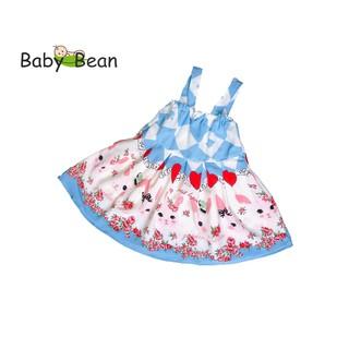 Đầm Lụa Bản Dây thời trang Hè bé gái BabyBean