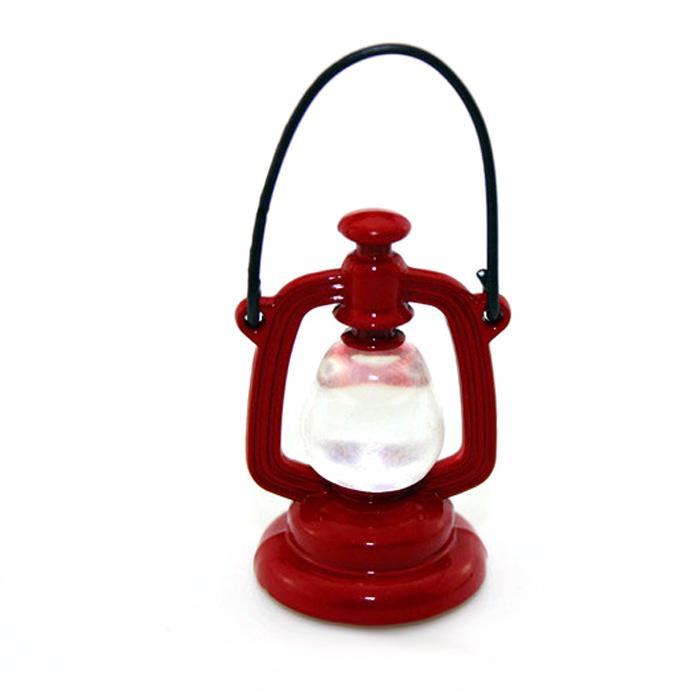 HW Mini Plastic Retro Oil Lamp for 1:12 Doll House Life Scene Decoration Pretend Play Toy