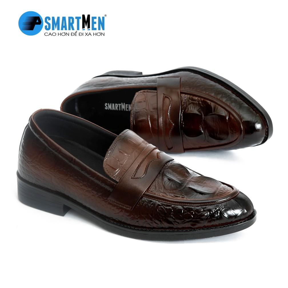 Giày da công sở tăng chiều cao SmartMen GS04 (
