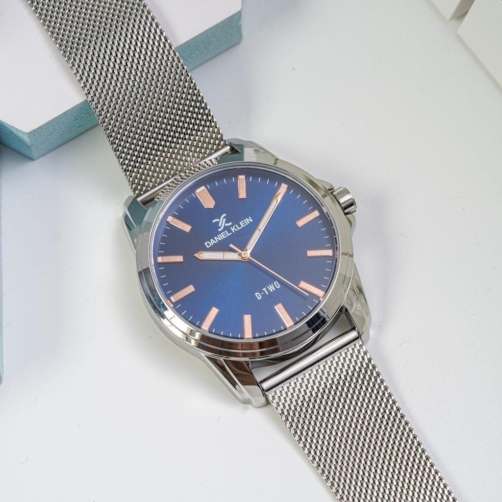 [Mã FARSBRLMY giảm 10% đơn 250K] Đồng hồ Nam Nữ Daniel Klein D-TWO Blue Mesh DK6224-DK6254 - Lamy watch