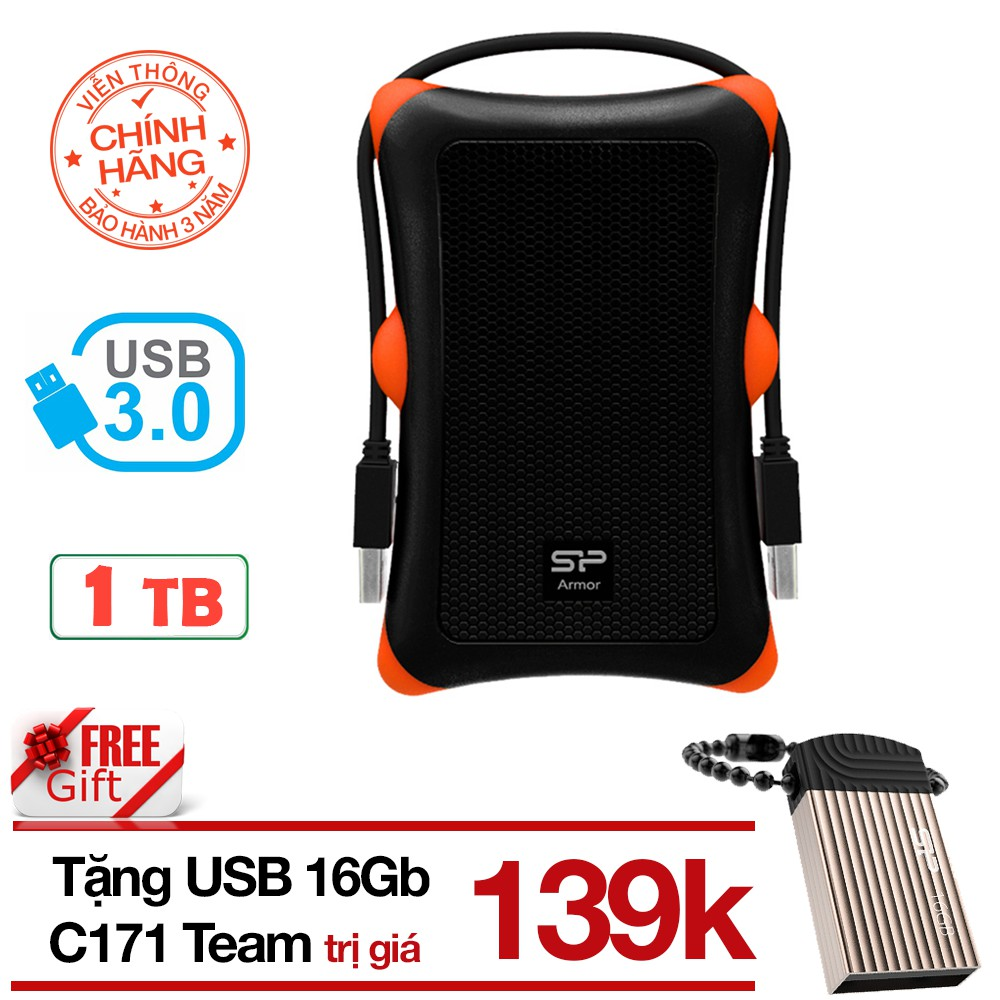 Ổ cứng di động 1TB 3.0 chống sốc Silicon Power A30 tặng USB 16Gb Silicon T20 chống nước - Hãng phân - 2752968 , 1098881232 , 322_1098881232 , 1629000 , O-cung-di-dong-1TB-3.0-chong-soc-Silicon-Power-A30-tang-USB-16Gb-Silicon-T20-chong-nuoc-Hang-phan-322_1098881232 , shopee.vn , Ổ cứng di động 1TB 3.0 chống sốc Silicon Power A30 tặng USB 16Gb Silicon