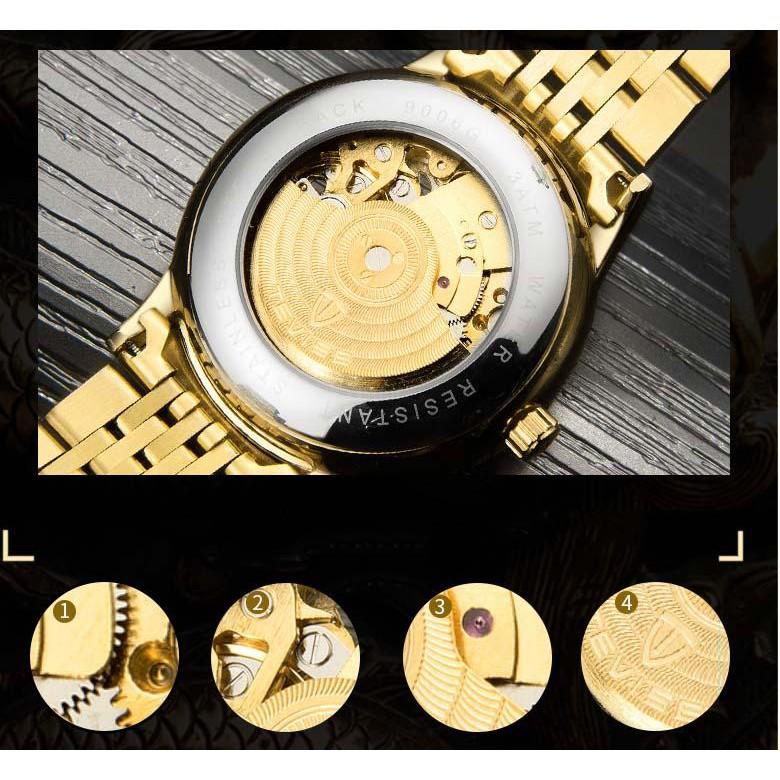 Đồng hồ nam Tevise 9006G máy cơ mặt rồng 3D (Nhiều màu)