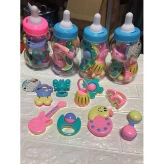 ✨ Bộ Xúc Xắc Bình Sữa 9 Món Baby Toys Cho Bé
